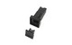 Square Black Fuse Holder Body - with Cap
